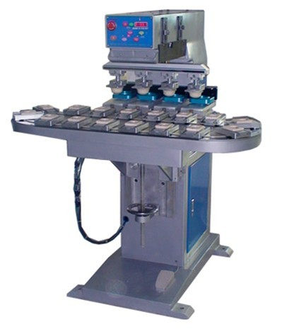 Four Color Tampon Printing Machine for Cylinder and Flat