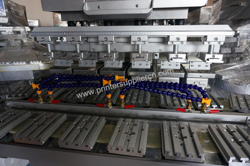 High Efficiency 6 Colors Pad Printing Machines with Conveyor