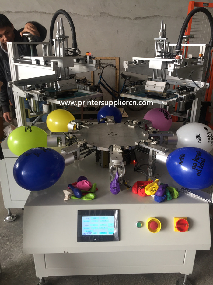Automatic Two Colors Screen Printing Machine for Balloon