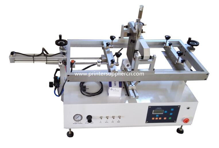 Cylindrical Screen Printing Machine With Moving-table