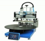 Pneumatic 8 Stations Rotary Screen Printer for Badge
