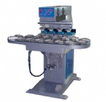 Four Color Ink Cup Pad Printing Machines with Carousel