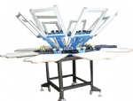 8 Colors 8 Stations Carousel Screen Printing Press